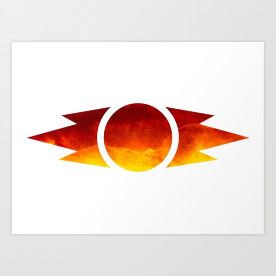 Star Wars Sith Symbol Art Print
