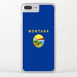 flag of montana,america,usa,big sky,treasure state, montanan,west,Billings,missoula,great falls Clear iPhone Case