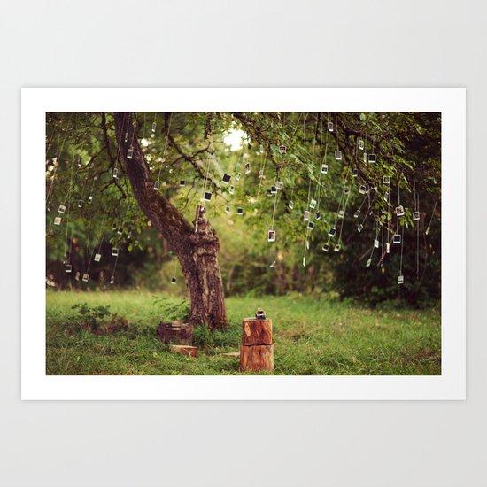 Polaroid Tree Art Print