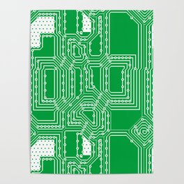 Computer board pattern Poster