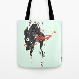 Magical Wolf Third Eye Art Tote Bag