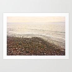 Dungeness Shoreline, Pebble Beach, Washington Seascape, Juan de Fuca, Coastal Photography Art Print