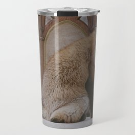 Fox on a Throne Travel Mug