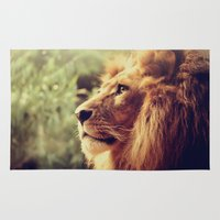 lion Area & Throw Rugs featuring Lion by Jazza Vock