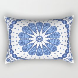 Blue round lace Rectangular Pillow