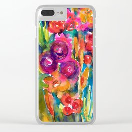 Mexican Bouquet Color Flowers Clear iPhone Case