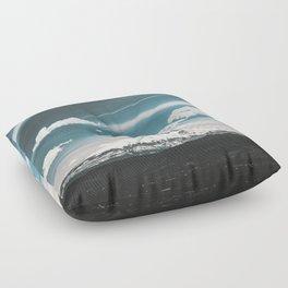 Mountain Morning - Nature Photography Floor Pillow