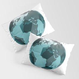 Football World Globe Pillow Sham