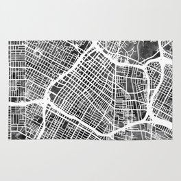 Los Angeles City Street Map Rug