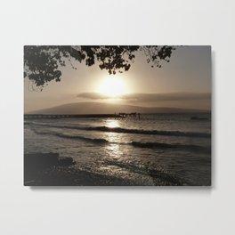 Ocean Sunset Tranquility Metal Print