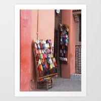 morocco Art Prints featuring Morocco by Lilliana Goti