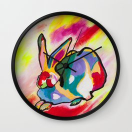 Hare Durer-style Wall Clock