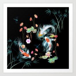 Japanese Water Garden Art Print