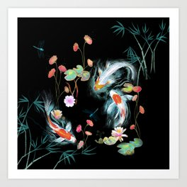 Japanese Water Garden Art Print