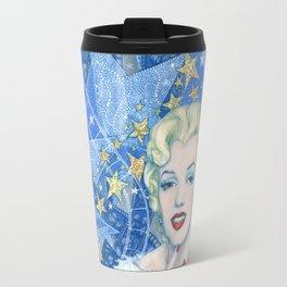 Marilyn, Old Hollywood, celebrity portrait Travel Mug
