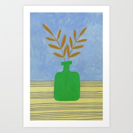 Flowers on a vase IV Art Print
