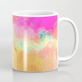 Modern Pastel Rainbow Cascade Abstract Coffee Mug