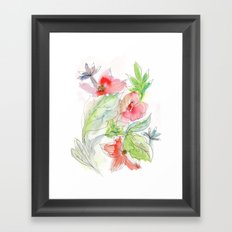 My tropical flowers Framed Art Print