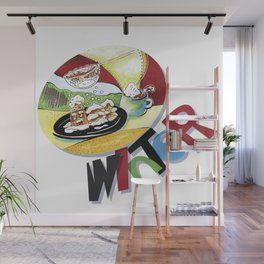 new year party table Wall Mural