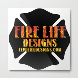 FIRE LIFE DESIGNS Logo Metal Print