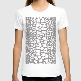 ANIMAL PRINT SNAKE SKIN GRAY AND WHITE PATTERN T-shirt