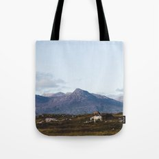 Connemara  - Horse and Mountains Tote Bag
