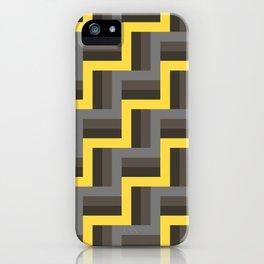 Plus Five Volts - Geometric Repeat Pattern iPhone Case