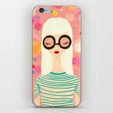 Girl with big glasses (II) iPhone & iPod Skin