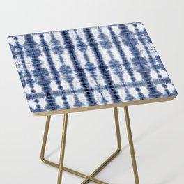 Tiki Shibori Blue Side Table