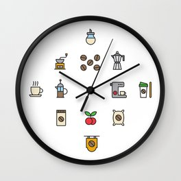 i'm a coffee lover Wall Clock