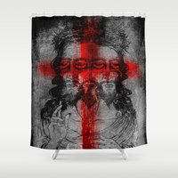 christ Shower Curtains featuring The Alternate Christ by sarvesh