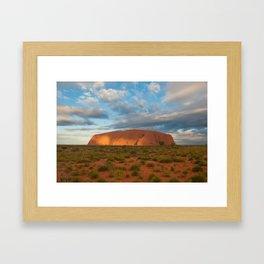 Ayers Rock at Sunset Framed Art Print