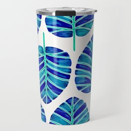 Elephant Ear Alocasia – Blue & Turquoise Palette Travel Mug