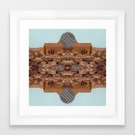 city vs. nature Framed Art Print