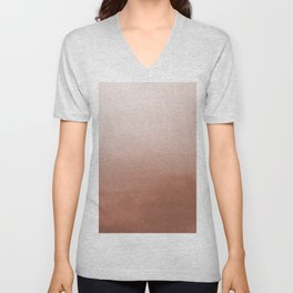 Sherwin Williams Cavern Clay SW7701 Abstract Watercolor Ombre Blend - Gradient Unisex V-Neck