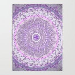 Lavender Purple Lace Mandala Poster