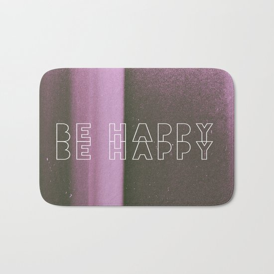 Be Happy Bath Mat