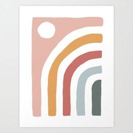 Daylight Terracotta Art Print