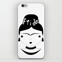 frida iPhone & iPod Skins featuring Frida by stavrina inno