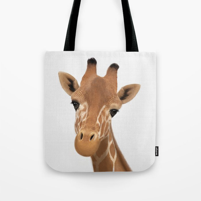 Safari Nursery Art Giraffe Print Animals Wall Baby Tote Bag