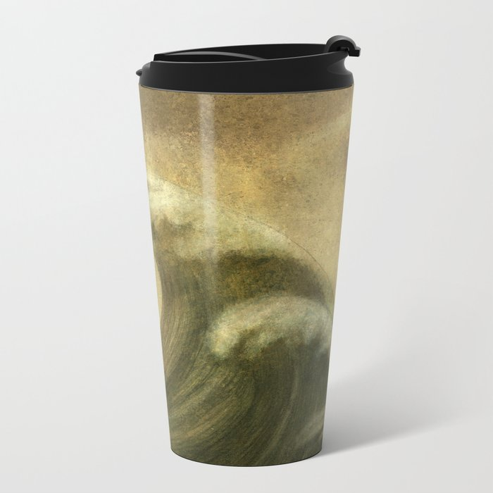 The Wave  Metal Travel Mug
