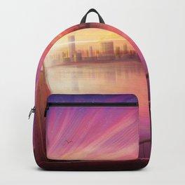 Anime Girl Bridge Sunset Backpack