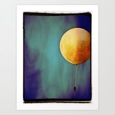Tethered Moon Art Print