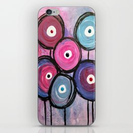 Abstract Circle Flowers iPhone Skin