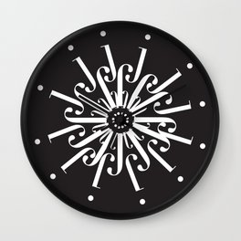 """Snowflakes - The Didot """"j"""" Project Wall Clock"""