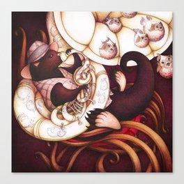 Jazzy Otter Canvas Print