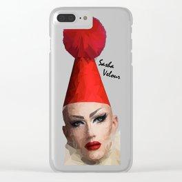 Sasha Velour Clear iPhone Case