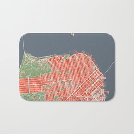 San Francisco city map classic Bath Mat