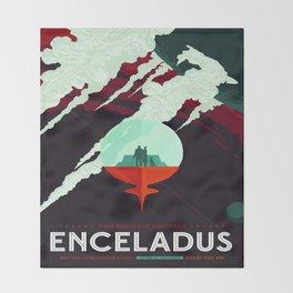 Vintage poster -Enceladus Throw Blanket
