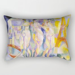 Robert Delaunay - La ville de Paris, 1911 Rectangular Pillow